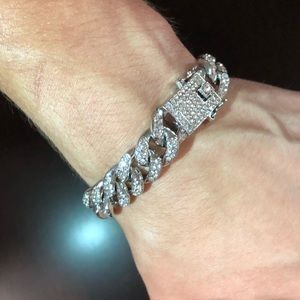 Mens Cuban Link Diamond Bracelet